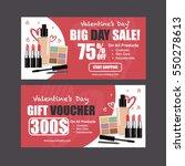 cosmetics sale banners vector ... | Shutterstock .eps vector #550278613
