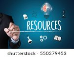 resources and human resources...   Shutterstock . vector #550279453