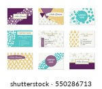 set of business cards with hand ...   Shutterstock .eps vector #550286713