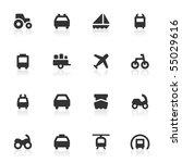 transportation icons. | Shutterstock .eps vector #55029616