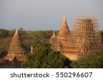 bagan myanmar construction | Shutterstock . vector #550296607