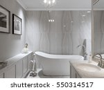 large furnished bathroom in... | Shutterstock . vector #550314517
