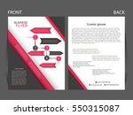 vector business flyer  magazine ...   Shutterstock .eps vector #550315087