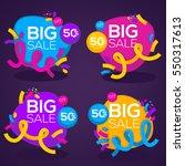 big sale  vector collection of... | Shutterstock .eps vector #550317613