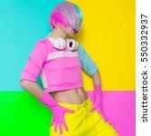 minimal fashion pop art.... | Shutterstock . vector #550332937