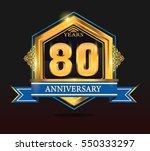80 ears anniversary shiny...