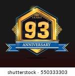 93 years anniversary shiny...   Shutterstock .eps vector #550333303