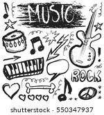 grunge music  doodle icon | Shutterstock . vector #550347937