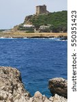 Small photo of Salento landscape. View of Torre Santa Maria dell_Alto, also known as Torre dell Alto (Dell_Alto watchtower). Nardo', Salento, Apulia, Italy