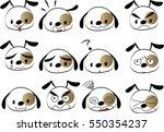 cartoon puppy set   Shutterstock .eps vector #550354237