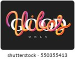 vector lettering. motivational... | Shutterstock .eps vector #550355413