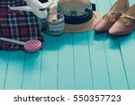 travel preparations with saving ... | Shutterstock . vector #550357723