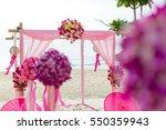 beach wedding setup | Shutterstock . vector #550359943