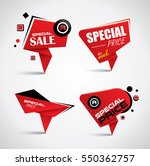 sale tag set with special offer ... | Shutterstock .eps vector #550362757