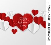 happy valentines day card.... | Shutterstock . vector #550374427