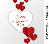 happy valentines day card.... | Shutterstock . vector #550374433