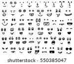 set of hand drawn funny faces | Shutterstock .eps vector #550385047