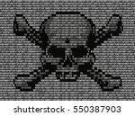 skull and crossed bones danger... | Shutterstock .eps vector #550387903
