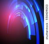 techno geometric vector circle... | Shutterstock .eps vector #550409053