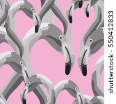 seamless pattern of black white ... | Shutterstock .eps vector #550412833