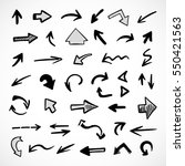 hand drawn arrows  vector set   Shutterstock .eps vector #550421563