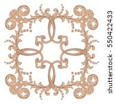 vintage baroque ornament retro... | Shutterstock .eps vector #550422433