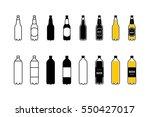 beer plastic bottle icon set | Shutterstock .eps vector #550427017