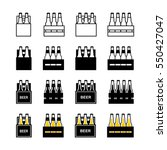 Beer box icon set | Shutterstock vector #550427047