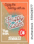 color vintage easter banner.... | Shutterstock .eps vector #550428577