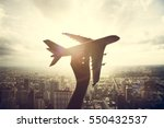 airplane aircraft travel trip | Shutterstock . vector #550432537