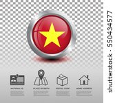 circle flag of vietnam in... | Shutterstock .eps vector #550434577