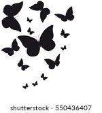 beautiful butterflies  on a... | Shutterstock .eps vector #550436407