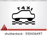 taxi icon vector illustration... | Shutterstock .eps vector #550436497