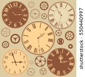 set of clock faces and parts of ... | Shutterstock .eps vector #550440997