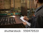 automated metalworking.... | Shutterstock . vector #550470523