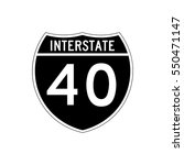 interstate highway 20 road sign ... | Shutterstock .eps vector #550471147
