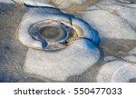 Small photo of Ammonite fossils in the 'Ammonite's Graveyard at Lyme Regis on Dorset's Jurassic Coast.