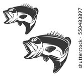 set of bass fish icons isolated ... | Shutterstock . vector #550483897