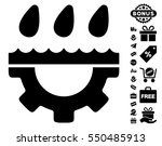 water gear drops pictograph... | Shutterstock .eps vector #550485913