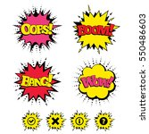 comic boom  wow  oops sound... | Shutterstock . vector #550486603