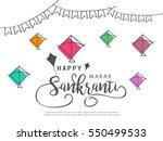 celebrate makar sankranti... | Shutterstock .eps vector #550499533