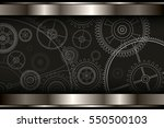 background metallic with... | Shutterstock .eps vector #550500103