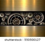 background metallic gears ... | Shutterstock .eps vector #550500127