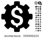 development cost icon with free ... | Shutterstock .eps vector #550500223