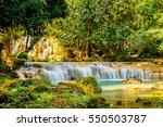 tansawan waterfall in doi phu... | Shutterstock . vector #550503787