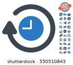 repeat clock pictograph with... | Shutterstock .eps vector #550510843