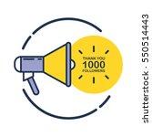 1000 followers  thank you card... | Shutterstock .eps vector #550514443