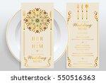 wedding menu card templates... | Shutterstock .eps vector #550516363