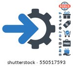 gear integration icon with free ... | Shutterstock .eps vector #550517593