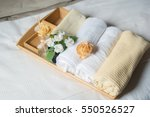 towel clean white roll on the... | Shutterstock . vector #550526527